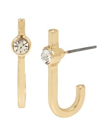 BCBGeneration Gold Curved Stick Earrings