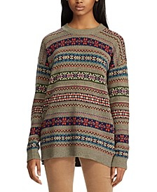 Fair Isle Long-Sleeve Sweater