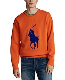 Men's Double-Knit Big Pony Crew Neck Sweatshirt