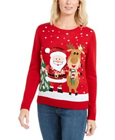 Karen Scott Friendly Santa Sweater, Created For Macy's