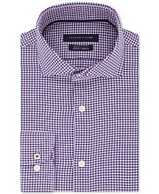 Tommy Hilfiger Men's Slim-Fit Non-Iron THFlex Supima® Performance Stretch Check Dress Shirt