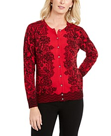 Lace-Print Cardigan, Created for Macy's