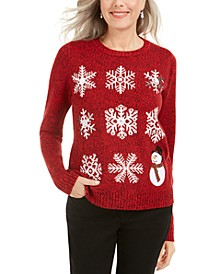 Sequined Snowflake Sweater, Created For Macy's