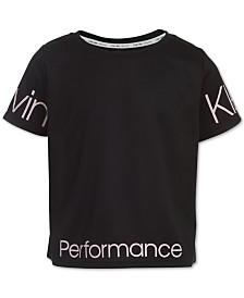 Calvin Klein Performance Big Girls Logo-Print Cropped T-Shirt