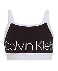 Calvin Klein Performance Big Girls Logo-Print Banded Sports Top