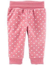 Carter's Baby Girls Heart Pull-On Fleece Pants