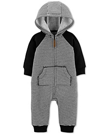 Baby Boys Hooded Dog-Back Jumpsuit