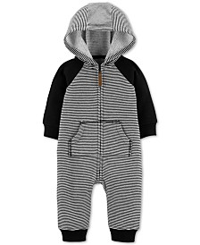 Carter's Baby Boys Hooded Dog-Back Jumpsuit