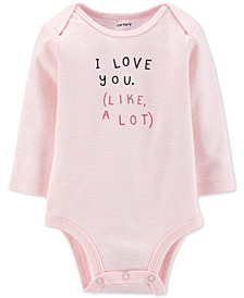 Baby Girls Cotton I Love You Bodysuit