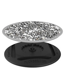 Nuckees Trends Smartphone Grip - White Diamond Cluster