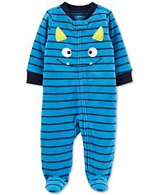 Carter's Baby Boys Monster Zip-Up Fleece Coveralls