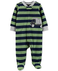 Carter's Baby Boys Dump Truck Zip-Up Fleece Footie