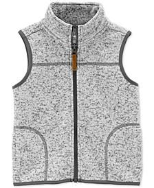 Baby Boys Fleece-Lined Zip-Up Sweater Vest