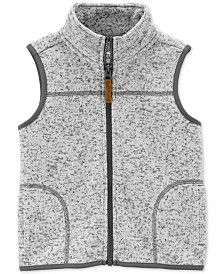 Carter's Baby Boys Fleece-Lined Zip-Up Sweater Vest