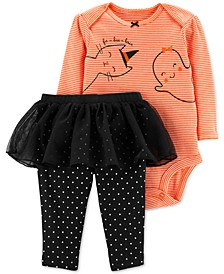 Baby Girls 2-Pc. Fa-Boo-Lous Bodysuit & Tutu Pants Set
