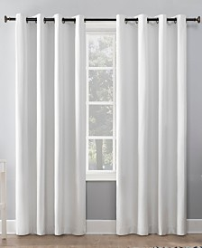 "Sun Zero Duran 50"" x 63"" Textured Thermal Blackout Curtain"