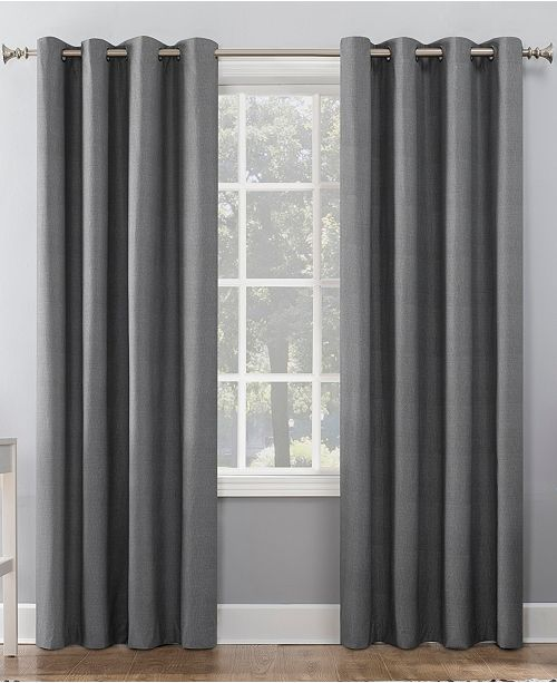 "Sun Zero Duran 50"" x 84"" Thermal Insulated 100% Blackout Grommet Curtain Panel"