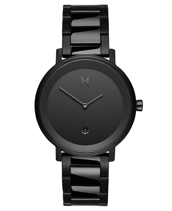 MVMT Signature II Obsidian Raven Black Stainless Steel Bracelet Watch 34mm