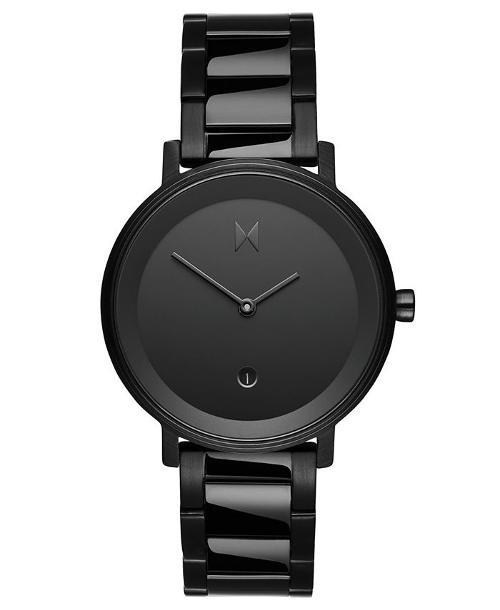 MVMT - Women's Signature II Obsidian Raven Black Stainless Steel Bracelet Watch 34mm