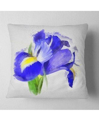 Design Art Designart Bloomy Blue Watercolor Rose Floral