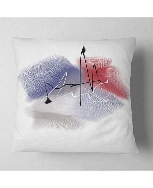 "Design Art Designart Abstract Multicolor Flowers Animal Throw Pillow - 16"" X 16"""