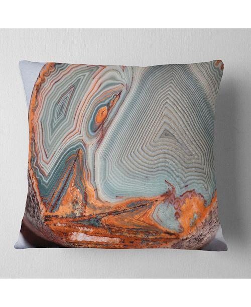 "Design Art Designart Beautiful Lake Superior Agate Abstract Throw Pillow - 18"" X 18"""