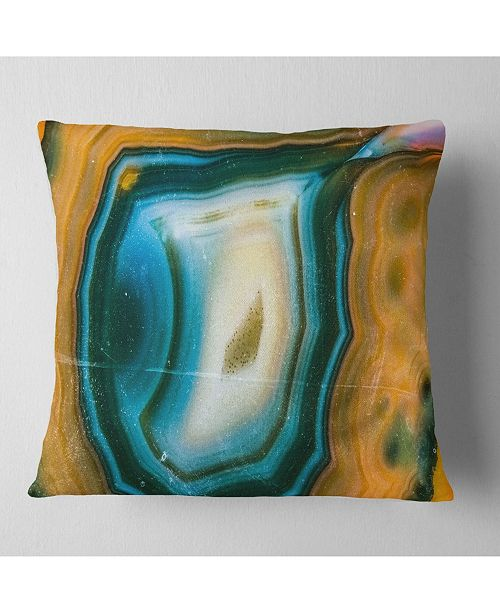"Design Art Designart Colorful Agate Pattern Abstract Throw Pillow - 16"" X 16"""