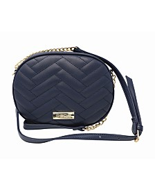 Bebe Sophia Quilted Canteen Crossbody