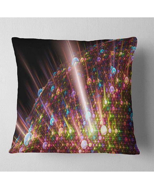 "Design Art Designart Multi Color Solar Bubbles Planet Abstract Throw Pillow - 18"" X 18"""