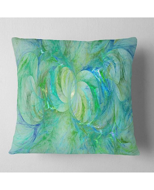 "Design Art Designart Snow Fractal Glass Texture Abstract Throw Pillow - 16"" X 16"""
