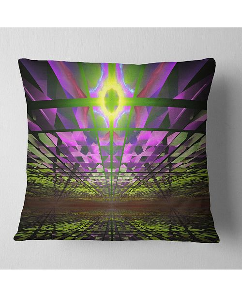 "Design Art Designart Fractal Cosmic Apocalypse Abstract Throw Pillow - 18"" X 18"""