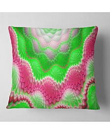 "Designart Snake Skin Exotic Flower Abstract Throw Pillow - 16"" X 16"""