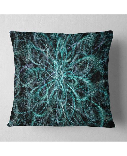 "Design Art Designart Unusual Starry Fractal Metal Grill Abstract Throw Pillow - 16"" X 16"""