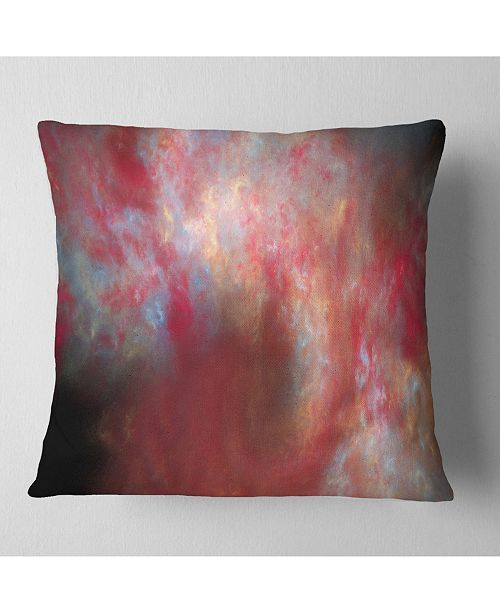 "Design Art Designart Red Starry Fractal Sky Abstract Throw Pillow - 18"" X 18"""