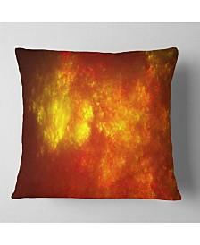 "Designart Orange Starry Fractal Sky Abstract Throw Pillow - 16"" X 16"""