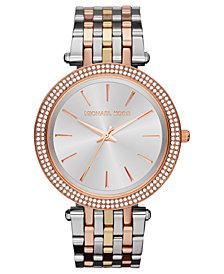 Michael Kors Women's Darci Tri-Tone Stainless Steel Bracelet Watch 39mm MK3203