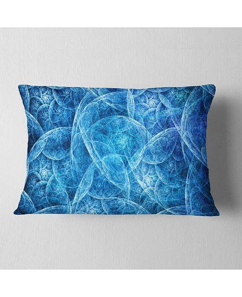 """Design Art Designart Dark Blue Fractal Dramatic Clouds Abstract Throw Pillow - 12"""" X 20"""""""