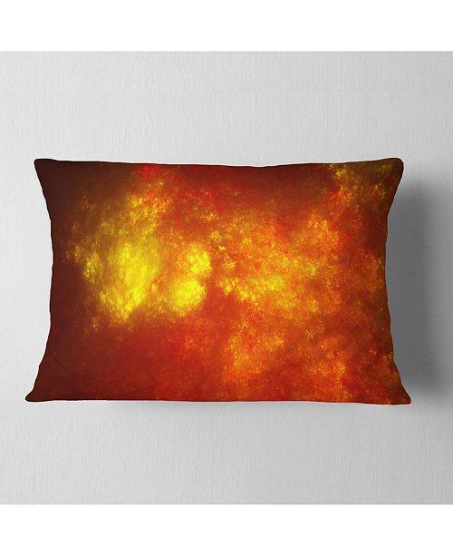 """Design Art Designart Orange Starry Fractal Sky Abstract Throw Pillow - 12"""" X 20"""""""