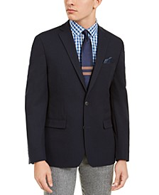 Men's Slim-Fit Navy Solid Blazer, Created For Macy's