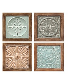 Stratton Home Decor Boho Tiles Wall Decor Set of 4