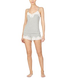 Lace-Trim Cami & Shorts Sleep Set