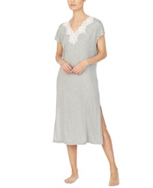 Lauren Ralph Lauren Lace-Trim Printed Nightgown