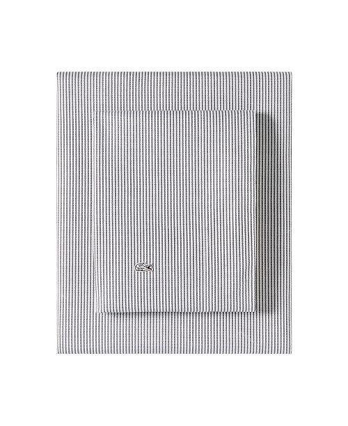 Lacoste Pinstripes Twin Sheet Set
