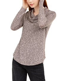 BCX Juniors' Cowl-Neck Sweater