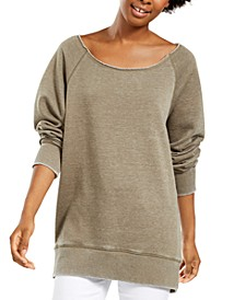 Juniors' Boat-Neck Tunic Sweatshirt