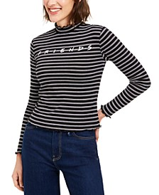 Love Tribe Friends Juniors' Mock-Neck Top