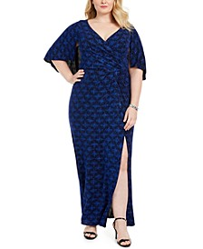 Plus Size Printed Gown