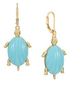 14K Gold-Plated Turtle Drop Earrings