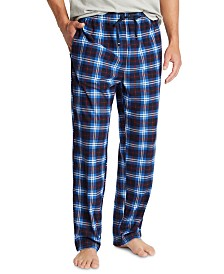 Nautica Men's Plaid Cozy Fleece Pants