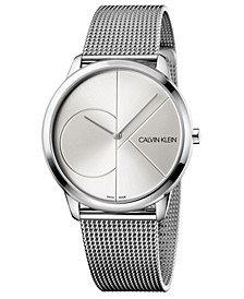Unisex Minimal Stainless Steel Mesh Bracelet Watch 40mm